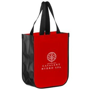 "Matte Laminated Designer Tote Bag with Contoured Corners (9 1/2""x4 1/2""x11 1/2"") - Screen Print"