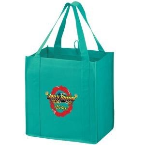 "Heavy Duty Non-Woven Grocery Tote Bag w/ Insert and Full Color (13""x10""x15"") - Color Evolution"