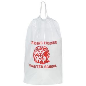 "Cotton Cord Drawstring Plastic Bag (12""x16""x4"") - Flexo Ink"