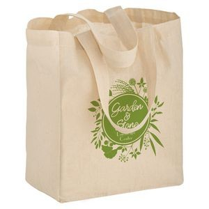 "Cotton Canvas Tote Bag (8""x4""x10"") - Screen Print"