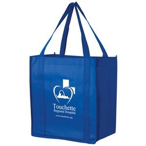 "Recession Buster Non-Woven Grocery Tote Bag w/ Insert (12""x8""x13"") - Screen Print"