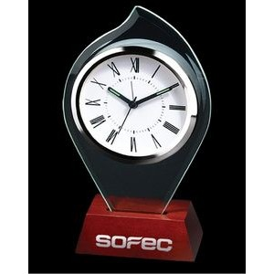 Flame Shape Glass Alarm Clock