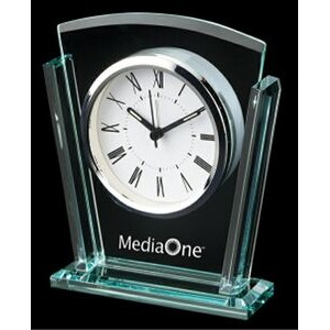 Trapezoid Glass Alarm Clock