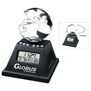 Solar Powered Moving Globe w/Alarm Clock