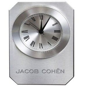 Metal On Glass Alarm Clock