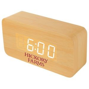 Medium Wooden Alarm Clock w/Sound Triggered Display