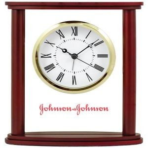 Glass Alarm Clock w/Wood Frame Glass Alarm Clock w/Wood Frame