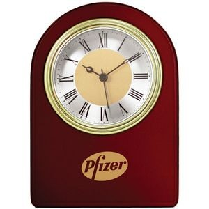 Wooden Arch Clock Glass Alarm Clock w/Wood Frame