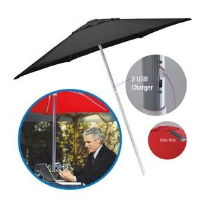 7' Solar USB Market Umbrella