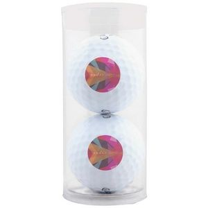 2 Golf Balls in Plastic Tube