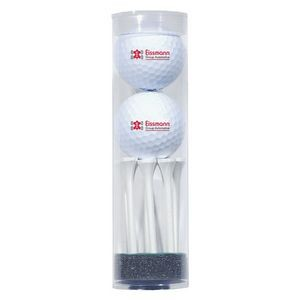 2 Golf Ball Tube & 8 Tees