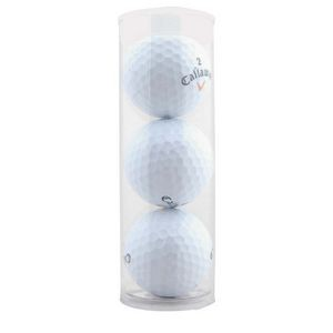 Three Golf Balls in Plastic Tube