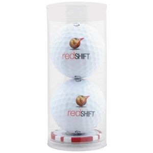 2 Ball Tube w/Poker Chip Ball Marker