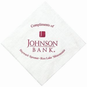 "5""x5"" White Linen Embossed Beverage Napkins - The 500 Line"