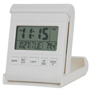 Travel Alarm Clock w/ LED Back Light