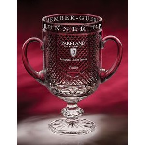 "12"" Diamond Cup Crystal Trophy"