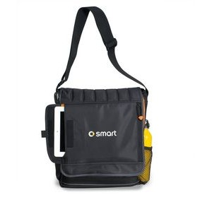 Impact Vertical Computer Messenger Bag - Black-Orange
