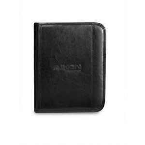 Deluxe Leather Wired-E Padfolio - Black