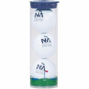 3 Ball Clear Tube with Wilson Chaos Golf Balls