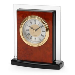 Clock - Burlwood Desk Alarm Clock