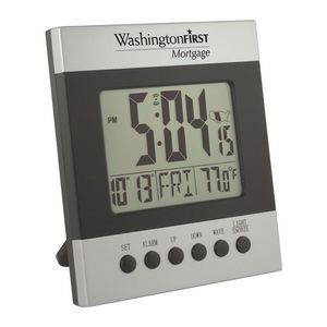 Clock - Radio Controlled Atomic LCD Wall or Desk Alarm Clock