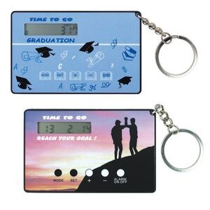 Card Size Countdown Clock with Key Ring