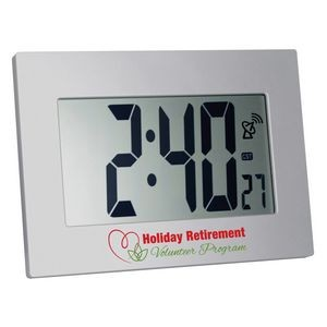 Large Display Radio Controlled Atomic LCD Wall or Desk Clock