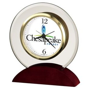 Howard Miller Dana Round Beveled Glass Clock (Full Color Dial)