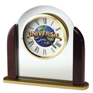 Howard Miller Derrick Glass Arch Alarm Clock (Full Color Dial)