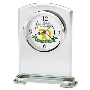 Howard Miller Corsica Arched Beveled Glass Clock (Full Color Dial)