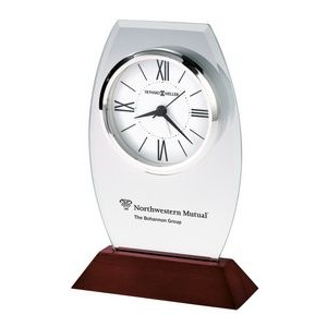 Howard Miller Waylon Beveled Glass Desk Clock