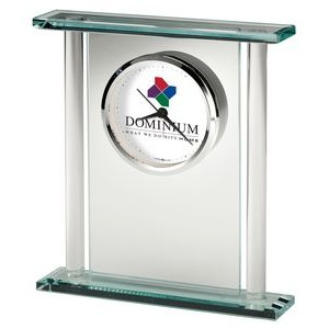 Howard Miller Julian glass bracket table clock (Full Color Dial)