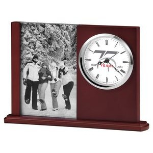 "Howard Miller Portrait Caddy II clock ""Caddy"" with picture frame (Full Color Dial)"