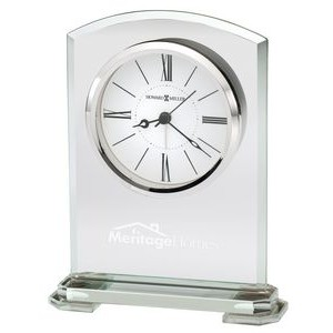 Howard Miller Corsica Clear Glass Arch Tabletop Clock