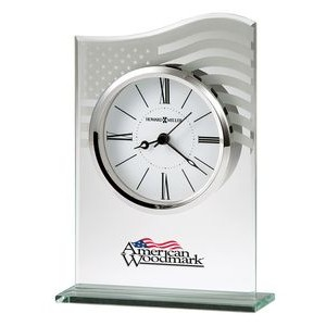 Howard Miller Liberty patriotic beveled glass tabletop clock