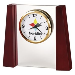 Howard Miller Keating Jade Glass Tabletop Clock (Full Color Dial)