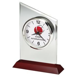 Howard Miller Benton Jade Glass Tabletop Clock (Full Color Dial)