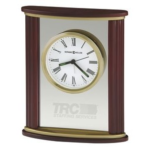 Howard Miller Victor Rectangle Wood & Glass Alarm Clock