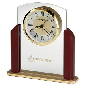Howard Miller Winfield glass tabletop alarm clock