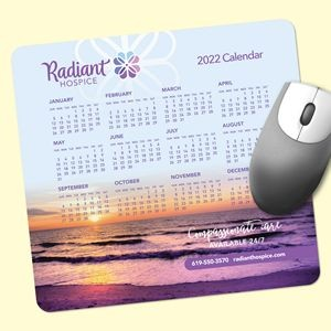 "Origin'L Fabric® 7.5""x8""x1/4"" Antimicrobial Calendar Mouse Pad"