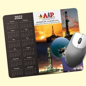 "ReTreads® 8""x9.5""x3/32"" Recycled Hard Surface Calendar Mouse Pad"