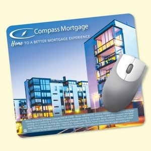 "ReTreads® 7""x8""x3/32"" Recycled Hard Surface Mouse Pad"