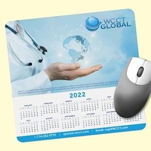 "Vynex® DuraTec® 7.5""x8""x1/16"" Hard Surface Calendar Mouse Pad"