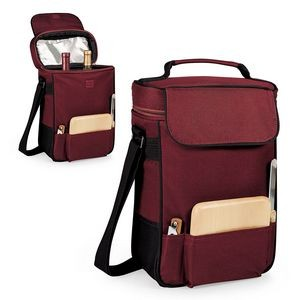 Duet Insulated Two-Bottle Wine & Cheese Tote