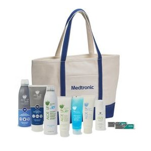 Aloe Up Cotton Tote Bag with Sport Sunscreen