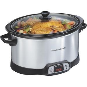 Hamilton Beach Programmable Countdown 8 Qt Slow Cooker