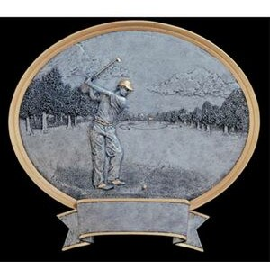 Golf, Male - Oval Legend Plates - 8""