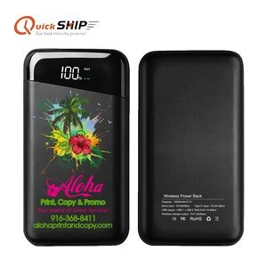 Richmond 10,000mAh Power Bank and Wireless Charger 2-in-1-10000mAh